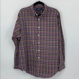 👌🏽 Ralph Lauren Polo Oxford Multi-color Shirt XL